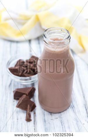 Fresh Made Chocolate Milk