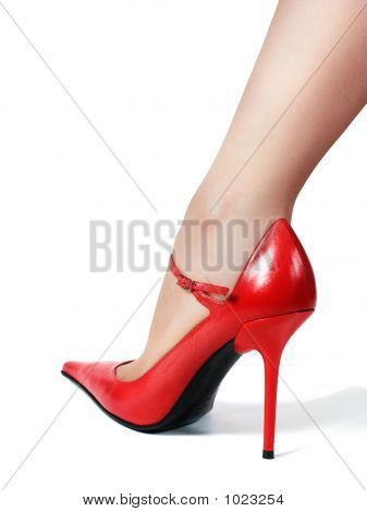 Leg In Red Shoe
