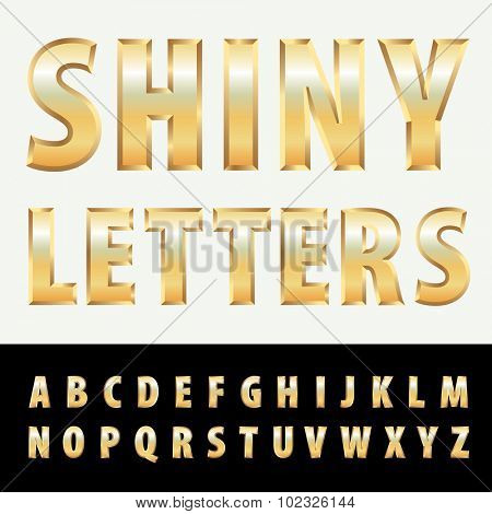 vector golden letters