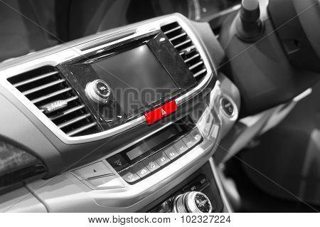 Emergency Lights Button In Modern Car
