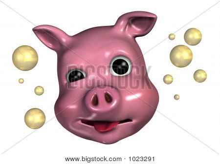Piggy Emoticon - Tipsy
