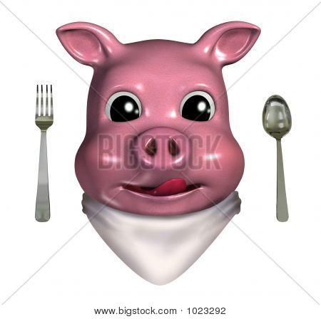 Piggy Emoticon - Hungry