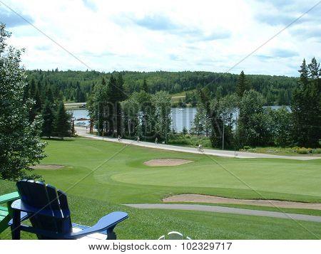 Golfing in Riding Mountain
