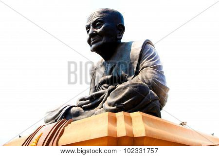 Famous big buddhism statue Luang Poh Toe