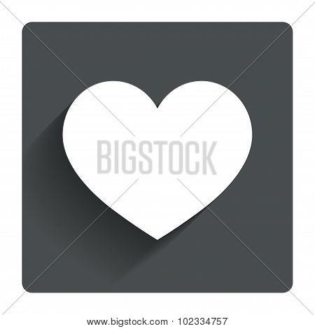 Love icon. Heart sign symbol.