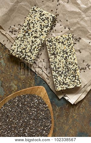 Chia Seeds and Chia Sesame Granola Bars