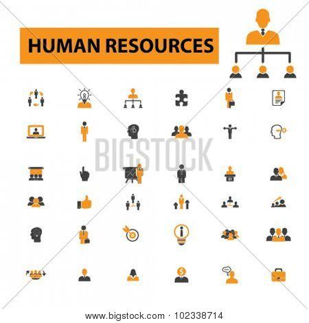human resources, organization, management icons