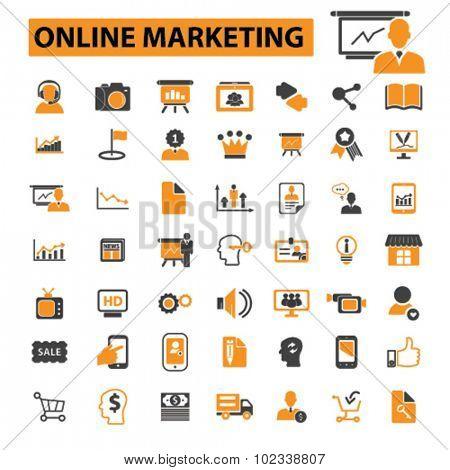 online marketing, internet marketing icons