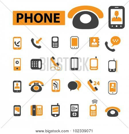phone, mobile, smartphone icons