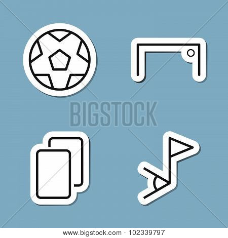 Soccer Line Icon Set