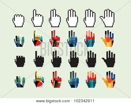 vector illustration of hand icon