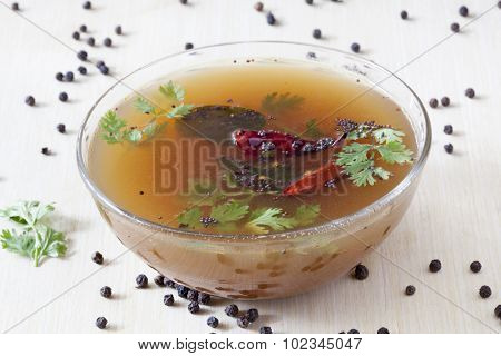 Pepper Rasam From South India.