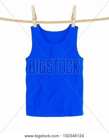 Blue T-shirts Isolated On White Background