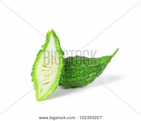 Balsam Pear On White Background
