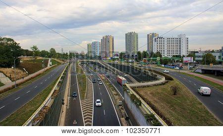 Katowice, Poland - September 18, 2015: View Of Downtown On 18 Se