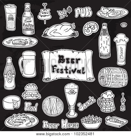 Beer festival vector set