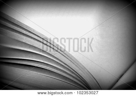 Book Open To A Blank Page Close Up