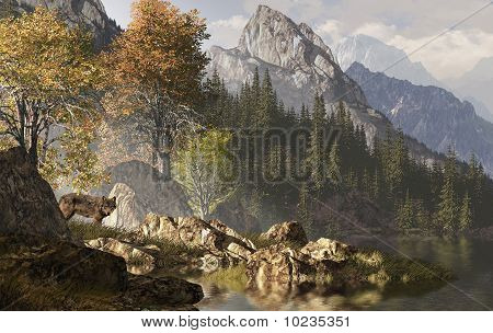 Wolf And The Rocky Mountains