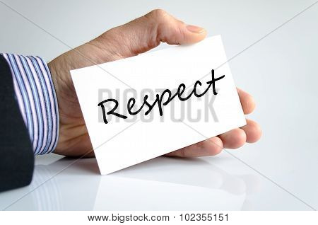 Respect Text Concept