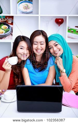 Happiness In A Friendship Between Three Beautiful Women
