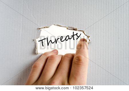 Threats Text Concept