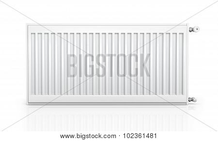 Radiator With Thermostat Isolated On White