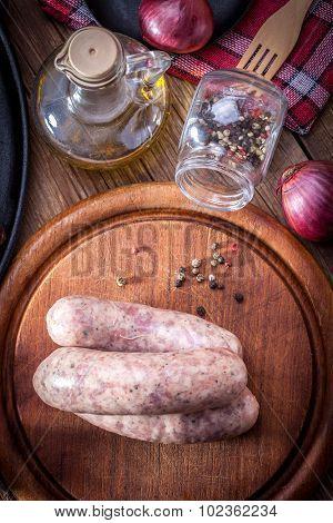 Raw White Sausage.