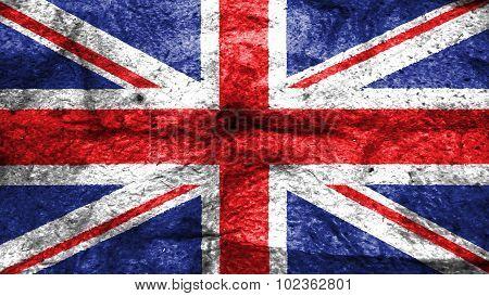 Flag of United Kingdom, Great Britain, British Flag painted on wool texture