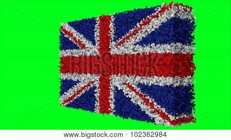 Flag of United Kingdom, Great Britain, British Flag made from leaves