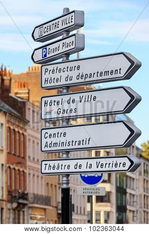 Street sign in Lille, France