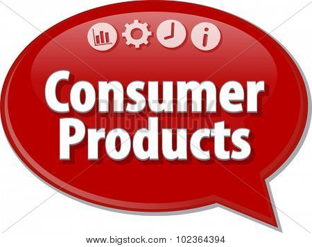 Blank business strategy concept infographic diagram illustration Consumer Products
