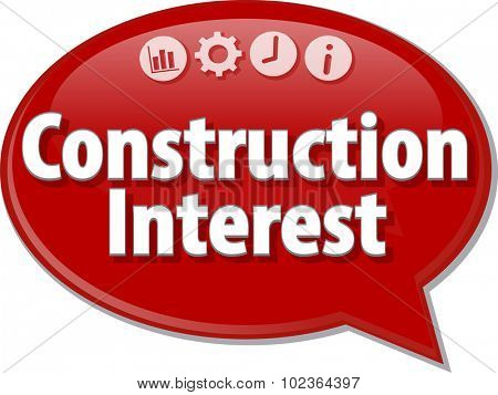 Blank business strategy concept infographic diagram illustration Construction Interest