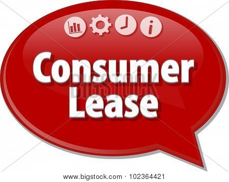Blank business strategy concept infographic diagram illustration Consumer Lease