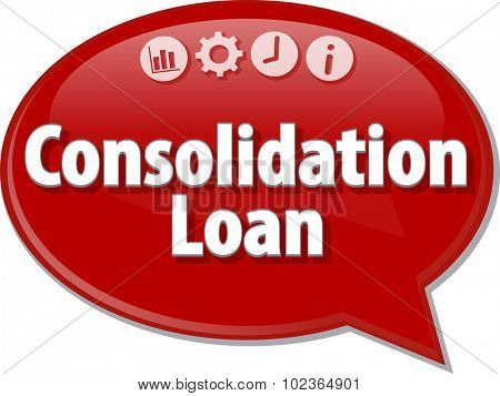Blank business strategy concept infographic diagram illustration Consolidation Loan
