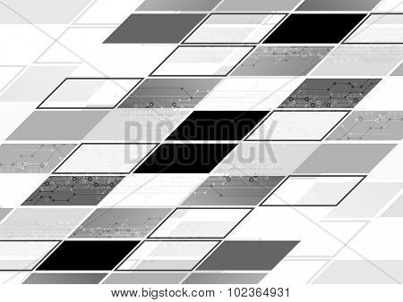 Abstract grey tech geometric corporate background. Vector design