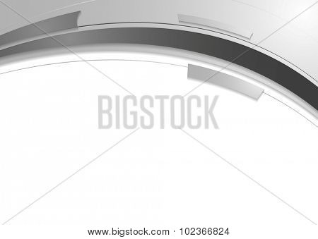 Grey white abstract wavy corporate design. Vector background