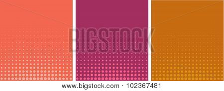 Graphical Pink Orange Gradient In Halftone Style