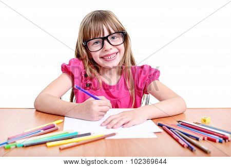Girl With Pencils.