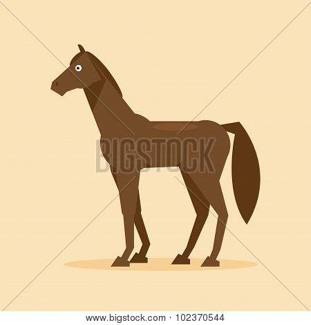 Horse. Vector Illustration