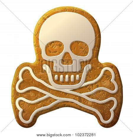 Gingerbread Skull Symbol Decorated Icing