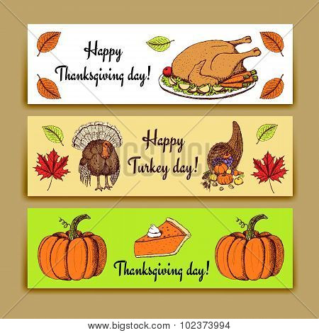 Sketch Thanksgiving Banners