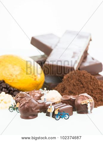 Miniature Pastry Chefs And Cocoa