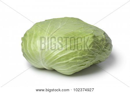 Whole coolwrap cabbage  on white background