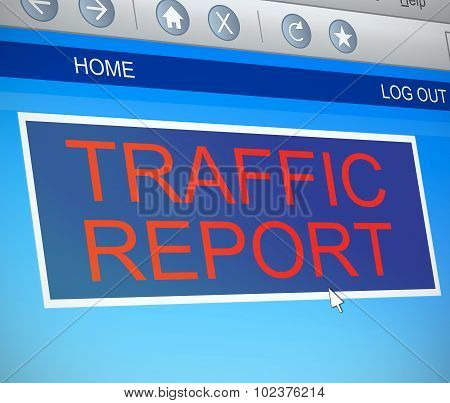 Traffic Report Concept.
