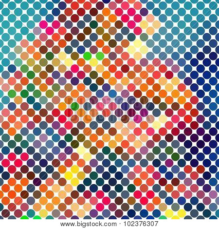 Dotted Colorful Abstract Background for Disco ans Music