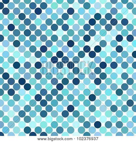 Background of blue dots on a white color