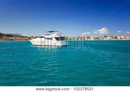 Ionian sea yacht cruise at Zakynthos island, Greece