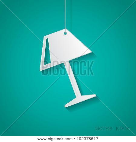 Vector reading-lamp icon. Eps10