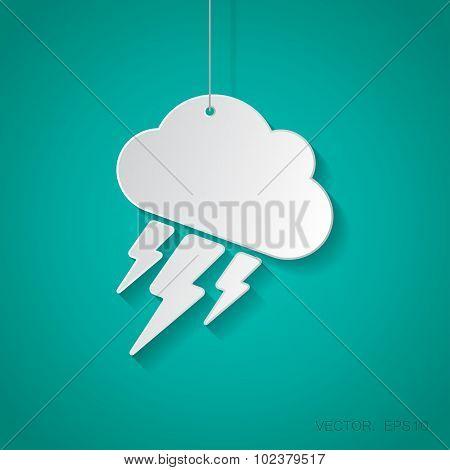 Vector flash icon. Eps10