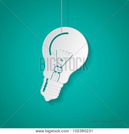 Vector lightbulb blue icon. Eps10